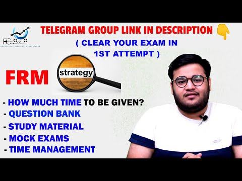 FRM | FRM Preparation Strategy | FRM Clearing Strategy | FRM Study Strategy | FRM Exam Preparation
