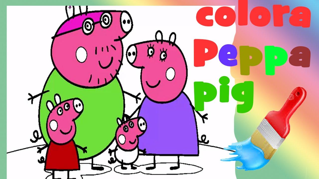 Peppa Pig Italiano Giochi E Giocattoli Per Bambini Colora Peppa Pig