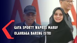 Bergaya Sporty, Ma'ruf Amin Olahraga di Pantai Kuta Mandalika