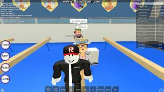 My pet guest in roblox is pranking PART 2 in Gymnastics Gymnasium!