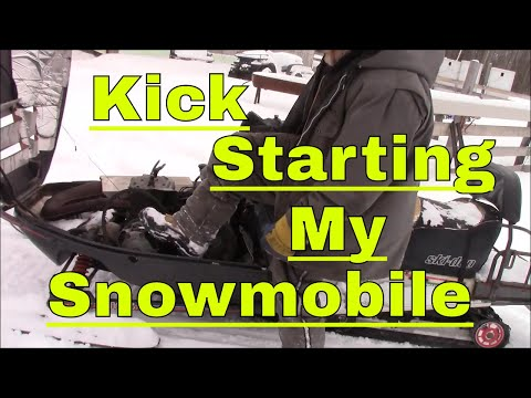 Kick Starting My Snowmobile, Installing Our New Solar Lights And Opening Some More Mail