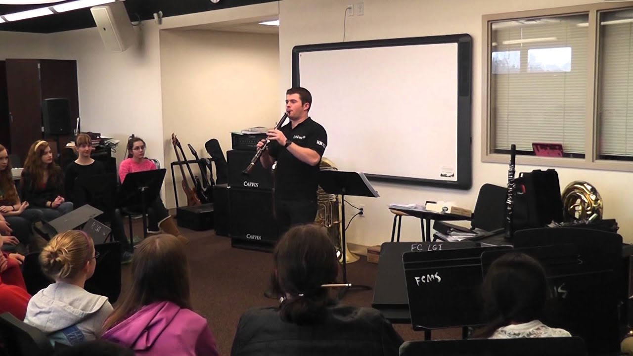 Nice Julian Bliss Visits Fort Couch Middle School   February 19, 2014