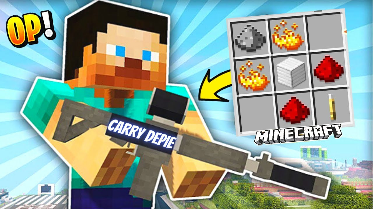 I CRAFTED The STRONGEST GUN In MINECRAFT 🔥🔥
