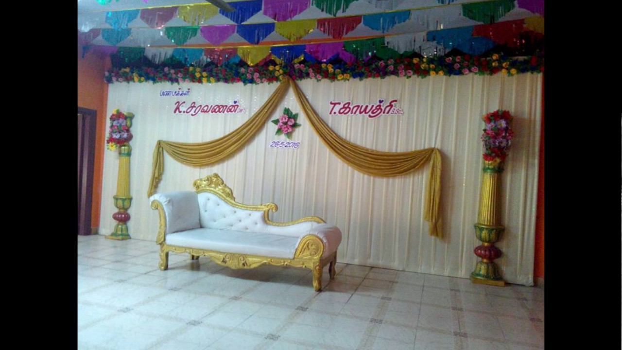 Madurai Decorators Wedding And Engagement Stage Decorations Youtube