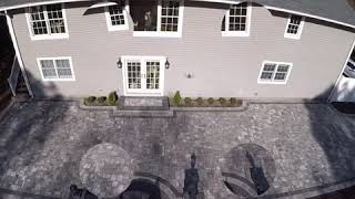 Holtsville, Ny 11742 - Cambridge Ledgestone Paver Patio With Firepit And Seating Wall - #patios