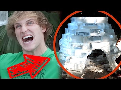Thumbnail: WINTER IGLOO MADE FROM 200 BLOCKS OF ICE! (Ft. The Dudesons)