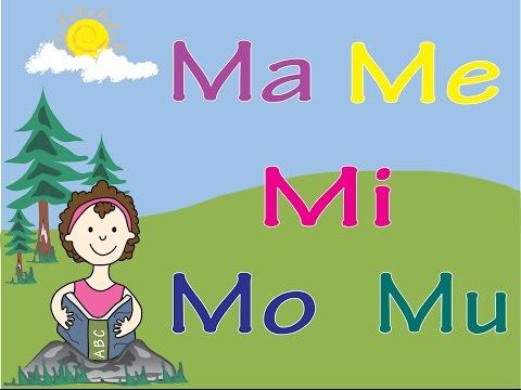 Aprende el Sonido de La Letra M con las Vocales
