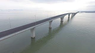 (VTC14)_Cầu vượt biển dài nhất Việt Nam nhìn từ trên cao