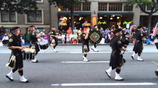 Seafair Torchlight Parade 2014 - Seattle Firefighters Pipes & Drums