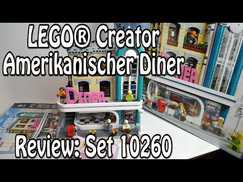 LEGO American Diner (Creator Set 10260 Review deutsch in 4K)