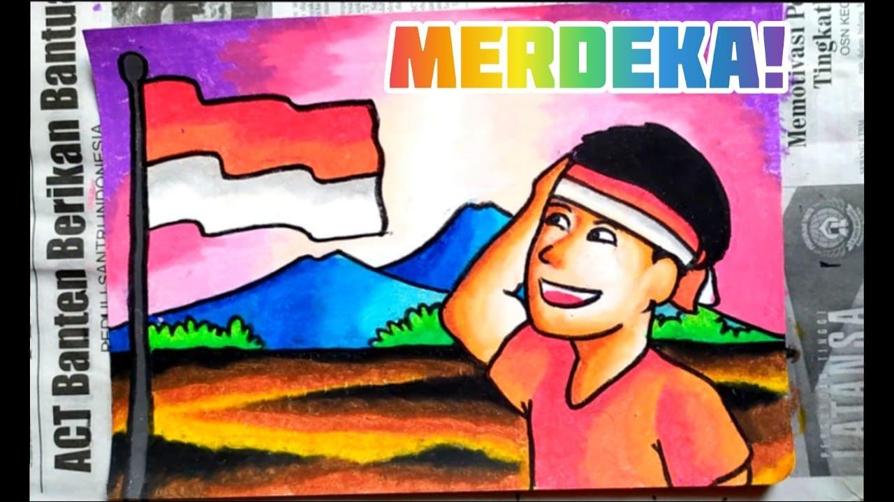 Download Cara Menggambar Poster Tema 17 Agustus Hut Ri 75 Tahun Hari Kemerdekaan Indonesia Mp3 Savethealbum