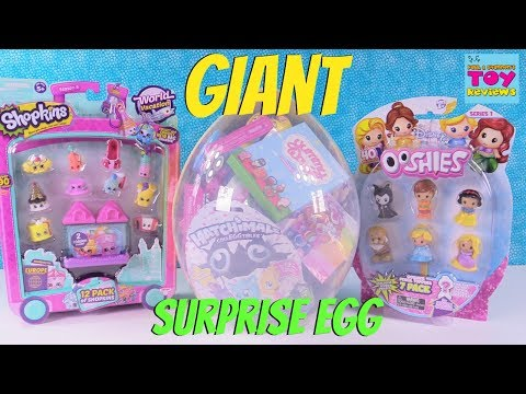Thumbnail: Hatchimals Ooshies Disney Trolls Giant Surprise Egg Opening | PSToyReviews