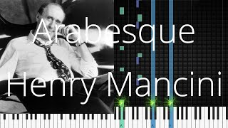 🎹 Arabesque, Henry Mancini, Synthesia Piano Tutorial