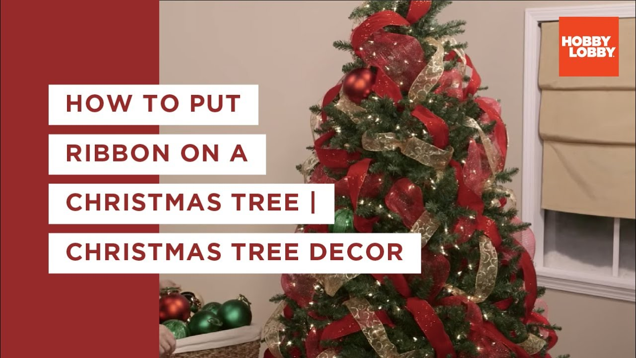 How to put ribbon on a christmas tree youtube How do you decorate a christmas tree