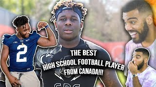 The #1 high school football player in canada has over 43 offers!!!- jesse luketa highlights