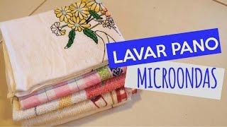Lavar pano de prato no micro-ondas – Funciona?