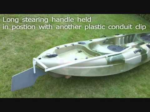 Kayak rudder & sail