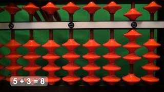Easy Addition with the Abacus (Soroban):  1 digit + 1 digit, Part 1