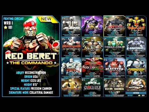 Real Steel WRB RED BERET VS ART OF WAR PRO ROBOTS Series of fights NEW ROBOT Живая Сталь