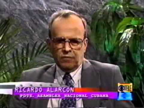 Cinemateca de Cuba. Peliculas Cubanas. Debate  Alarcón - Mas Canosa 1996