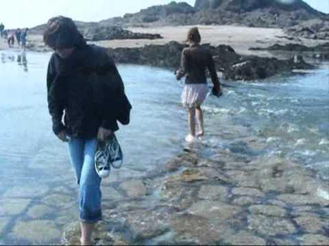 Grande Marée saint malo : Submersion du passage du petit bé.