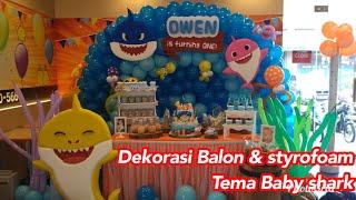 Baby Shark theme birthday Decoration