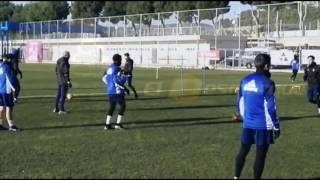 Juan Muñoz en el entrenamiento del Real Zaragoza