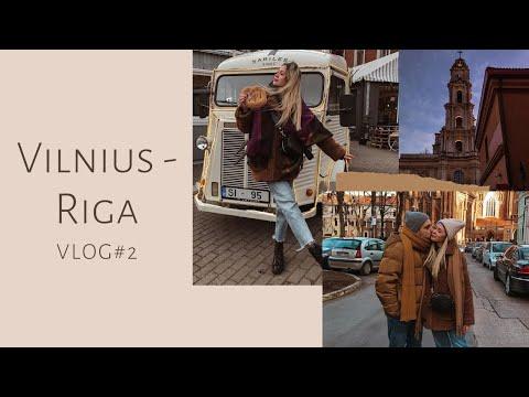 Vlog #2 Вильнюс-Рига/Рождественская Европа, путешествие на машине