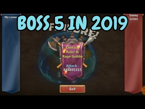 Boss 5 In 2019 L Castle Clash