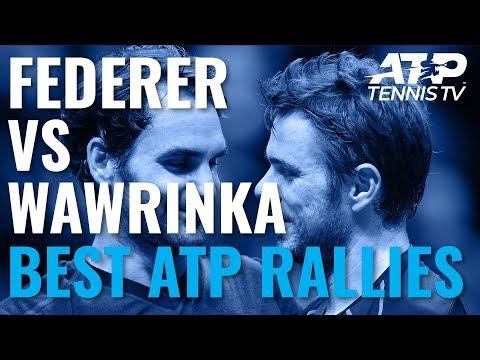 Roger Federer vs Stan Wawrinka: Best ATP Shots & Rallies