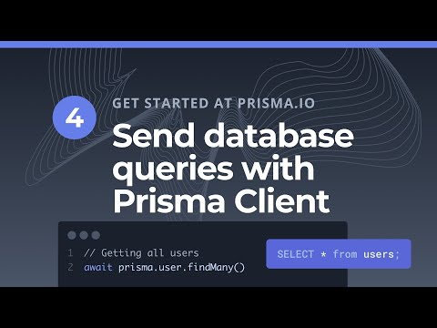 Send Database Queries With Prisma Client  (4/5)