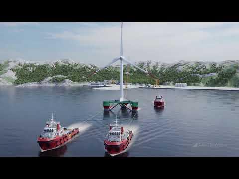 TRUSSFLOAT 3 BLADED   Floating Offshore Wind Turbine
