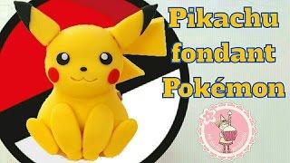 Como hacer a Pikachu con fondant - Pokemon | Mi tarta preferida