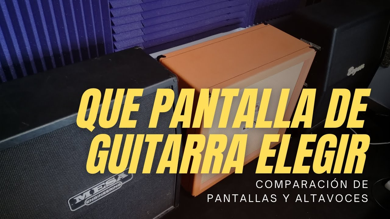 Qué Pantalla de Guitarra Elegir?