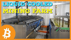 Liquid Cooled Bitcoin Mining Farm Tour | Immersion Cooling