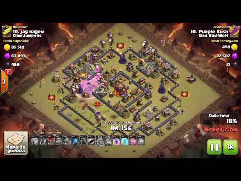 TH10 vs TH10 3 Star LavaLoon Clan Wars   Clan Jumpers