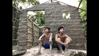 Primitive Technology: Building the Wall Home in Cambodia #4