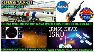 Indian Defence News:New Train line To china Border,Astrosat spot distance galaxy,Navic Failure,Hindi