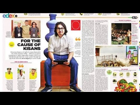 Kisan Network Aditya got Forbes award -Inspiration - YouTube