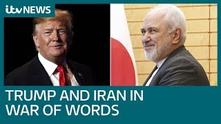 Donald Trump told 'never threaten an Iranian' after warning Tehran | ITV News