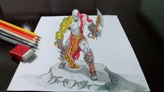 Desenhando o Kratos - God of War - em 3D...
