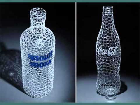 Painted Glass Bottle Art | Set Of Pictures Ideas