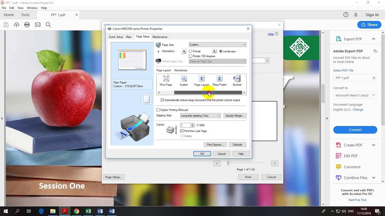 Cara Mudah Print A3 Dengan Kertas A4 File Pdf Youtube