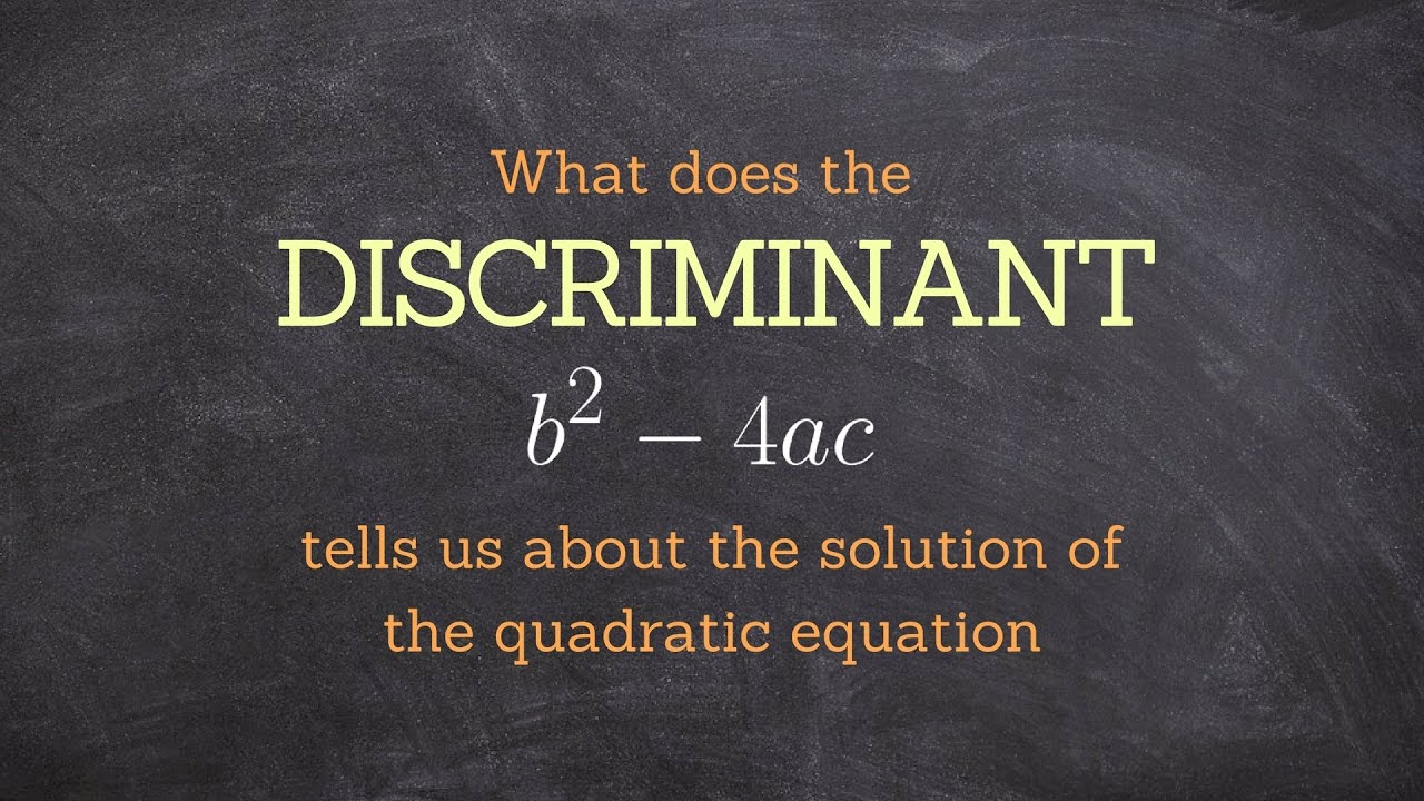 Tutorial what does the discriminant tell us about the solutions tutorial what does the discriminant tell us about the solutions of a quadratic equation falaconquin
