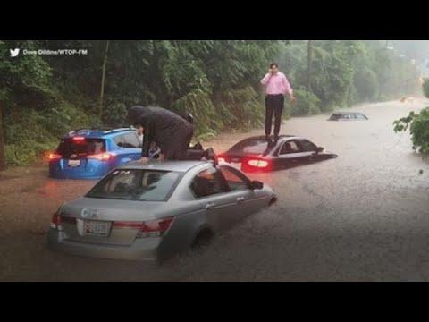 Flash floods hit Washington D.C. during morning rush hour