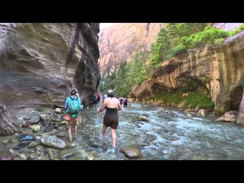 The narrows zion national park, 4K, Utah, USA