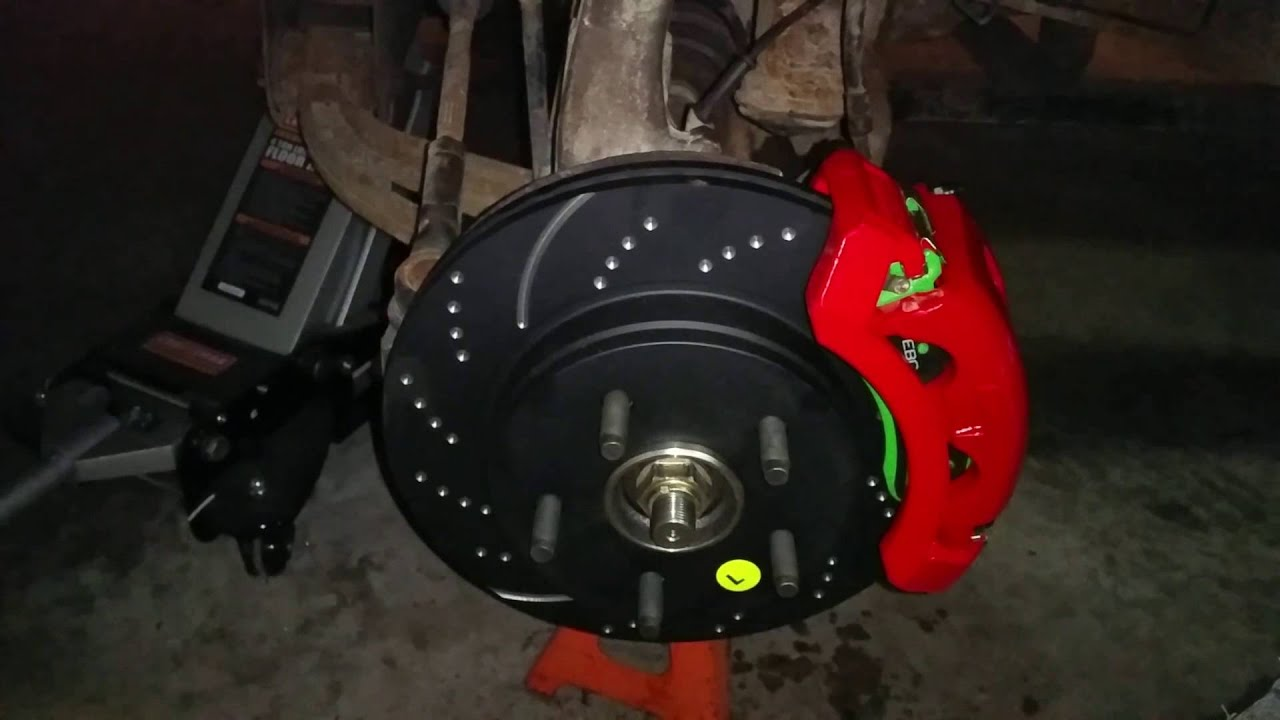 EBC stage 3 brake kit and Powerstop calipers installed