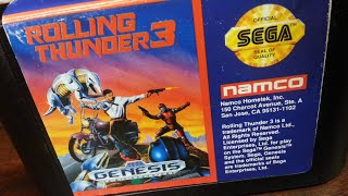 Classic Game Room - ROLLING THUNDER 3 review for Sega Genesis