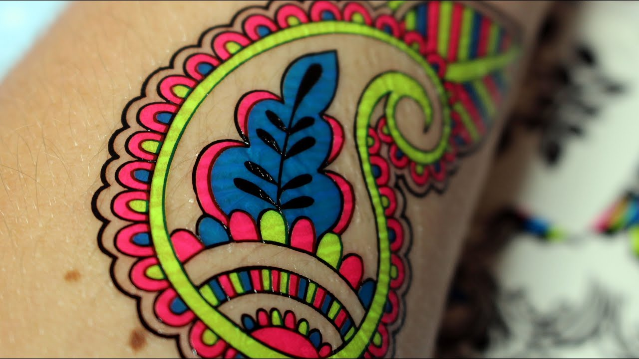 Neonowe Tatuaże Tatoo