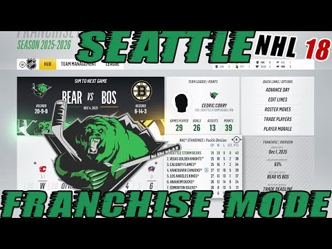 "NHL 18: Seattle Franchise Mode #34 ""AGENT C IS ON FIRE!"""
